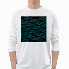 Pattern Vector Design White Long Sleeve T Shirts