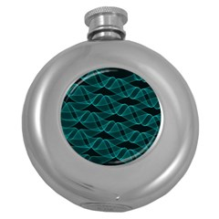 Pattern Vector Design Round Hip Flask (5 Oz)