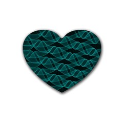 Pattern Vector Design Rubber Coaster (heart)  by Nexatart