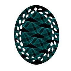 Pattern Vector Design Oval Filigree Ornament (two Sides)