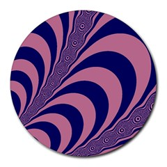 Fractals Vector Background Round Mousepads by Nexatart