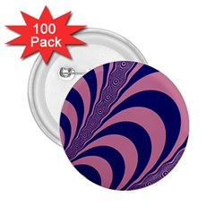 Fractals Vector Background 2 25  Buttons (100 Pack)