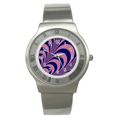 Fractals Vector Background Stainless Steel Watch