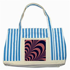 Fractals Vector Background Striped Blue Tote Bag by Nexatart