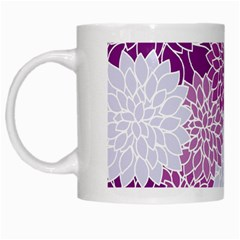 Floral Wallpaper Flowers Dahlia White Mugs by Nexatart
