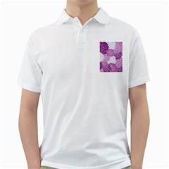 Floral Wallpaper Flowers Dahlia Golf Shirts