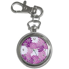 Floral Wallpaper Flowers Dahlia Key Chain Watches