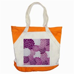 Floral Wallpaper Flowers Dahlia Accent Tote Bag