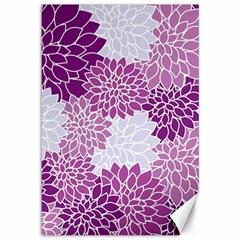 Floral Wallpaper Flowers Dahlia Canvas 12  X 18