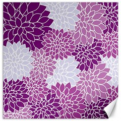 Floral Wallpaper Flowers Dahlia Canvas 16  X 16