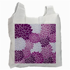 Floral Wallpaper Flowers Dahlia Recycle Bag (one Side)
