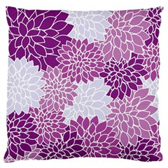 Floral Wallpaper Flowers Dahlia Large Cushion Case (one Side) by Nexatart