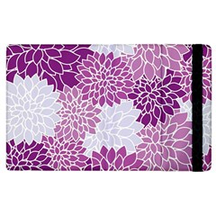 Floral Wallpaper Flowers Dahlia Apple Ipad 2 Flip Case by Nexatart
