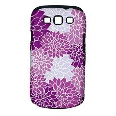 Floral Wallpaper Flowers Dahlia Samsung Galaxy S Iii Classic Hardshell Case (pc+silicone) by Nexatart