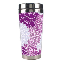 Floral Wallpaper Flowers Dahlia Stainless Steel Travel Tumblers by Nexatart