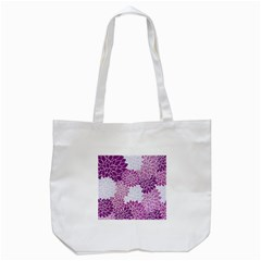 Floral Wallpaper Flowers Dahlia Tote Bag (white) by Nexatart