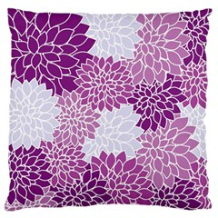 Floral Wallpaper Flowers Dahlia Standard Flano Cushion Case (one Side) by Nexatart