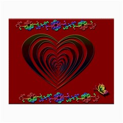Red Heart Colorful Love Shape Small Glasses Cloth