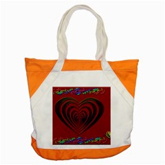 Red Heart Colorful Love Shape Accent Tote Bag by Nexatart