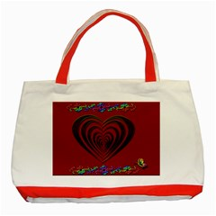 Red Heart Colorful Love Shape Classic Tote Bag (red)