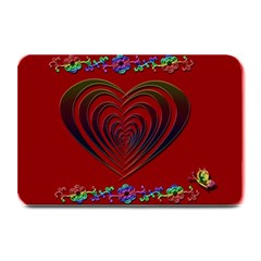 Red Heart Colorful Love Shape Plate Mats