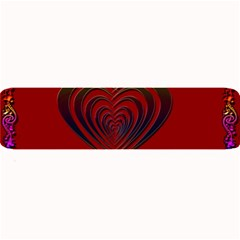 Red Heart Colorful Love Shape Large Bar Mats by Nexatart
