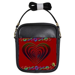 Red Heart Colorful Love Shape Girls Sling Bags by Nexatart