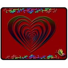 Red Heart Colorful Love Shape Fleece Blanket (medium)