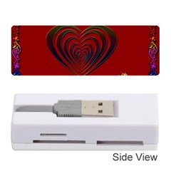 Red Heart Colorful Love Shape Memory Card Reader (stick)  by Nexatart