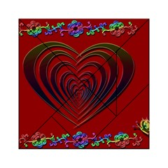 Red Heart Colorful Love Shape Acrylic Tangram Puzzle (6  X 6 )
