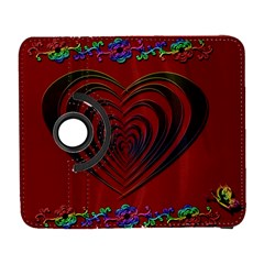 Red Heart Colorful Love Shape Galaxy S3 (flip/folio) by Nexatart