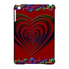 Red Heart Colorful Love Shape Apple Ipad Mini Hardshell Case (compatible With Smart Cover) by Nexatart
