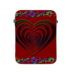 Red Heart Colorful Love Shape Apple Ipad 2/3/4 Protective Soft Cases