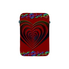 Red Heart Colorful Love Shape Apple Ipad Mini Protective Soft Cases by Nexatart