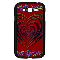 Red Heart Colorful Love Shape Samsung Galaxy Grand Duos I9082 Case (black)