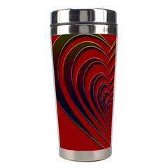 Red Heart Colorful Love Shape Stainless Steel Travel Tumblers by Nexatart