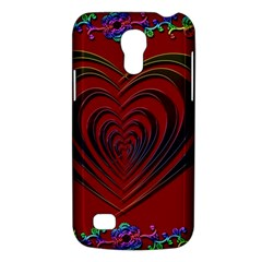 Red Heart Colorful Love Shape Galaxy S4 Mini by Nexatart