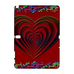 Red Heart Colorful Love Shape Galaxy Note 1