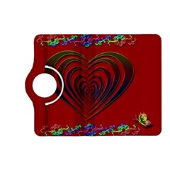 Red Heart Colorful Love Shape Kindle Fire Hd (2013) Flip 360 Case by Nexatart