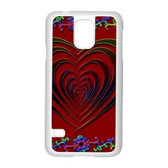 Red Heart Colorful Love Shape Samsung Galaxy S5 Case (white)