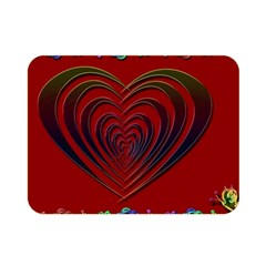 Red Heart Colorful Love Shape Double Sided Flano Blanket (mini)