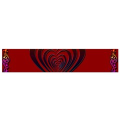 Red Heart Colorful Love Shape Flano Scarf (small) by Nexatart