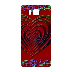 Red Heart Colorful Love Shape Samsung Galaxy Alpha Hardshell Back Case by Nexatart