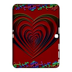 Red Heart Colorful Love Shape Samsung Galaxy Tab 4 (10 1 ) Hardshell Case