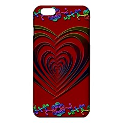 Red Heart Colorful Love Shape Iphone 6 Plus/6s Plus Tpu Case by Nexatart