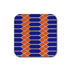 Pattern Design Modern Backdrop Rubber Coaster (square)