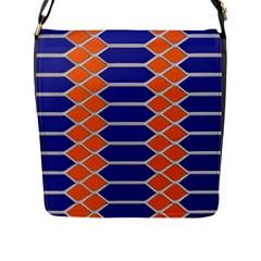 Pattern Design Modern Backdrop Flap Messenger Bag (l)