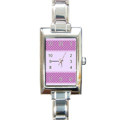 Purple Modern Rectangle Italian Charm Watch