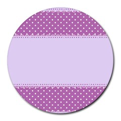 Purple Modern Round Mousepads by Nexatart