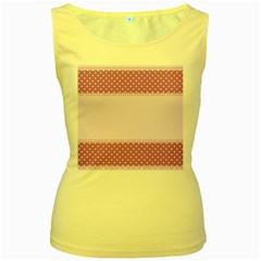 Purple Modern Women s Yellow Tank Top